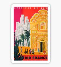 1958 Air France Amérique du Sud Travel Poster Sticker