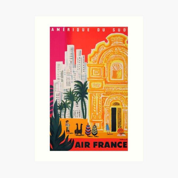 1958 Air France Amérique du Sud Travel Poster Art Print