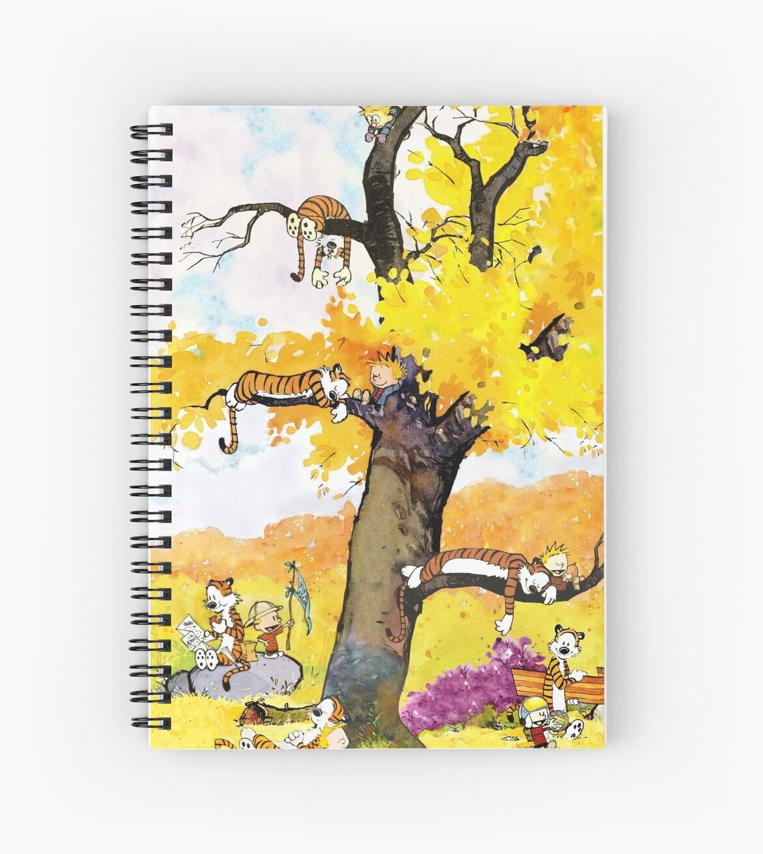 Cuadernos de espiral «Mural de Calvin y Hobbes» de dru1138 | Redbubble