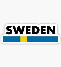 Sweden Flag Minimalist Sticker