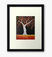 Red Earth Tree Framed Print
