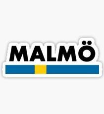 Malmö Flag Minimalist  Sticker