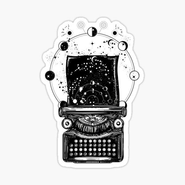 Typewriter. Symbol of imagination, literature Sticker