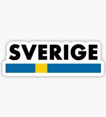 Sverige Flag Minimalist Sticker