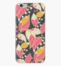 Seamless floral pattern with hand drawn leaves iPhone Case