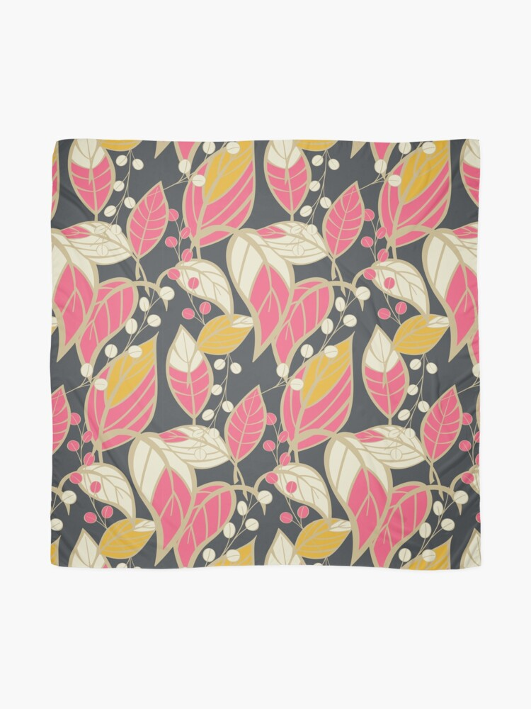 Alternate view of Seamless floral pattern with hand drawn leaves Scarf