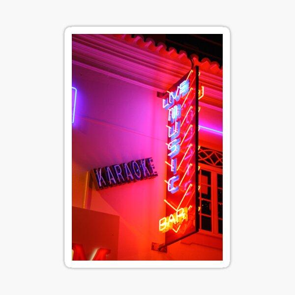 Karaoke Music Neon Sign Lights Sticker