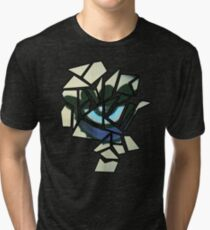 Geometrics: Skull Profile (Sampled Eye) Geometry Tri-blend T-Shirt