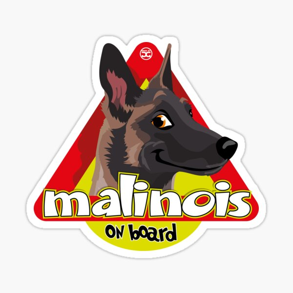 Malinois On Board Sticker