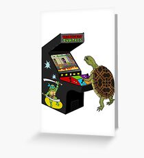 Arcade Ninja Turtle Greeting Card