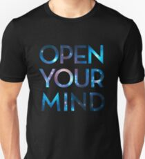 OPEN YOUR MIND, Galaxy, Space, Universe, Star T-Shirt