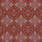 Sliced Pomegranat, bohemian pattern, terracotta and grey by clipsocallipso