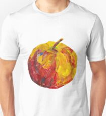 Eat me! Red apple in mixed media collage T-Shirt