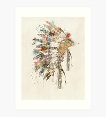 Native Headdress Art Print