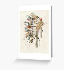 Native Headdress Greeting Card
