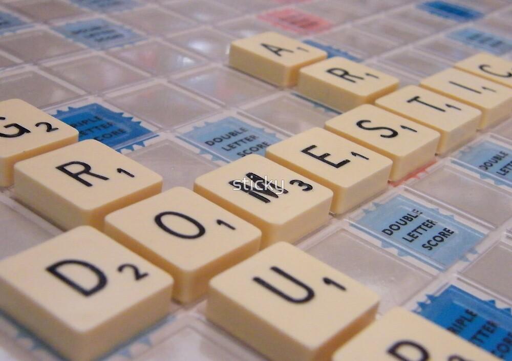 Scrabble by sticky