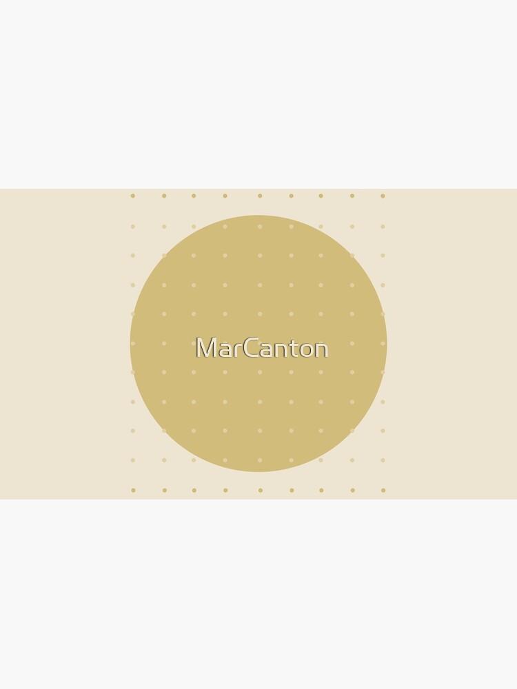 """""""Cream & Polka dots central circle pattern"""" de MarCanton"""