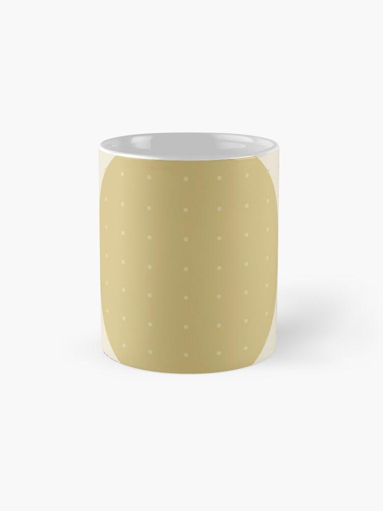 "Vista alternativa de Tazas ""Cream & Polka dots central circle pattern"""