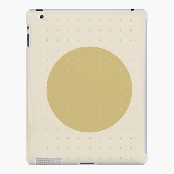 """""""Cream & Polka dots central circle pattern"""" iPad Snap Case"""