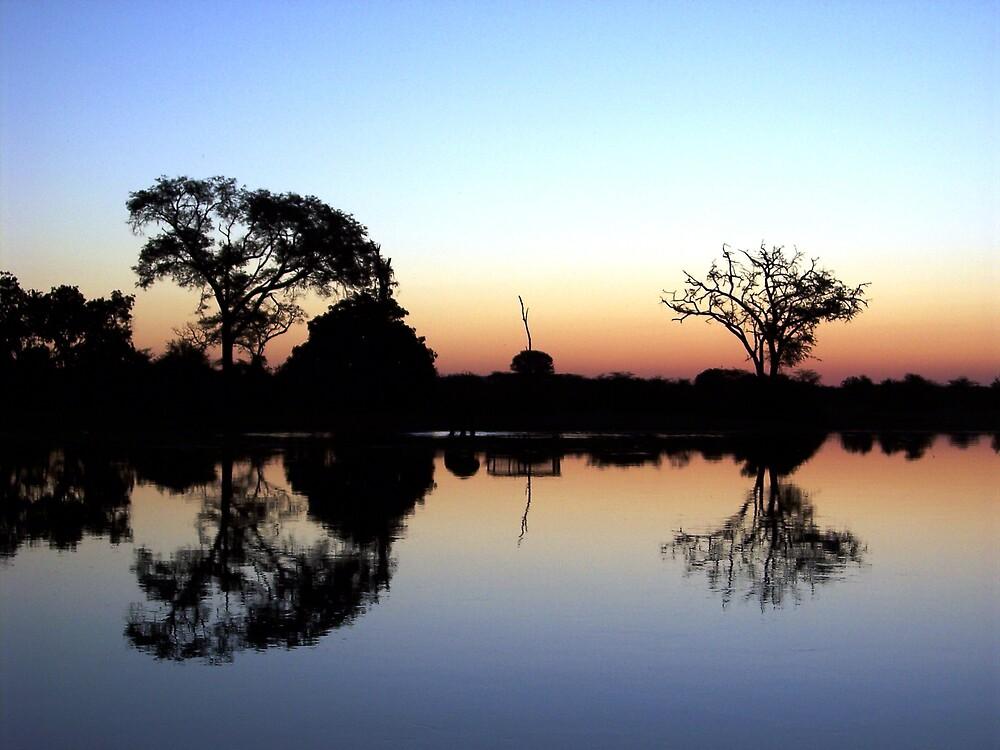 Sunset on Zambezi by Braedene