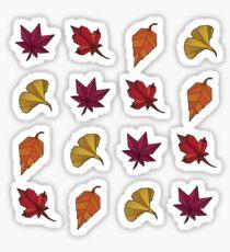Origami Autumn Leaves Sticker