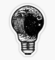 Storm in a light bulb Sticker