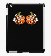 Skeleton Hands On Pumpkin Breasts Funny Sarcastic  iPad Case/Skin