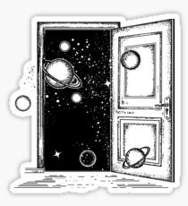 Open door in universe Sticker