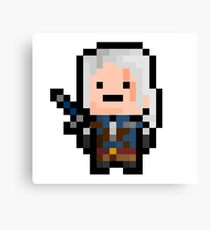 Geralt of Rivia (8-bit) Canvas Print
