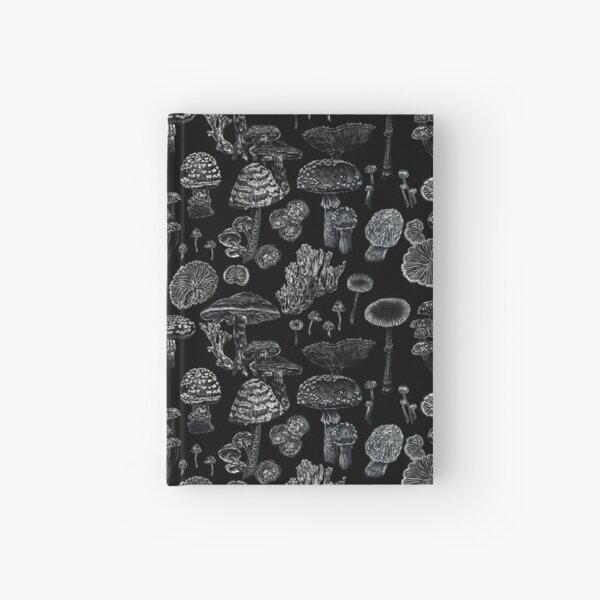 Mycology in Black Hardcover Journal
