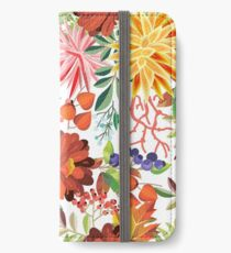 Autumn Flowers Pattern 1 iPhone Wallet