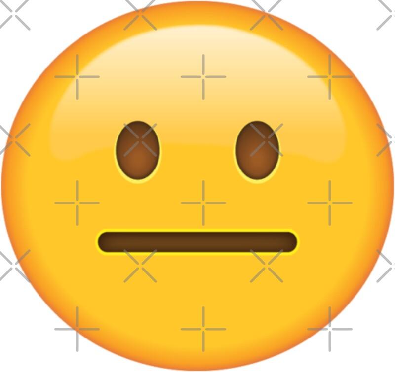 """Neutral Face Emoji"" Stickers by PrintPress | Redbubble"