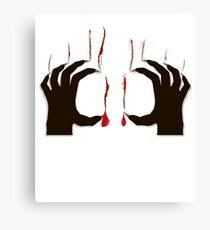 Bloody Animal Evil Scare Canvas Print