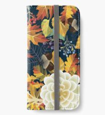 Autumn Flowers Pattern 4 iPhone Wallet