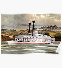 The Robert E Lee Paddle Wheeler 1866 Poster