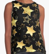 Seamless with Golden Stars Contrast Tank