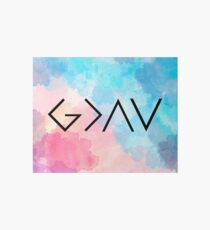 God Is Greater Than the Highs and Lows Art Board