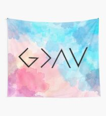 God Is Greater Than the Highs and Lows Wall Tapestry
