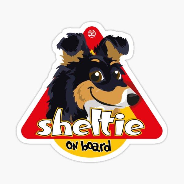 Sheltie On Board - Tricolor Sticker