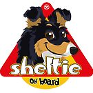 Sheltie On Board - Tricolor by DoggyGraphics
