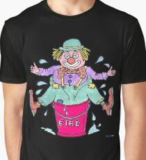 Clown Stuck in a Bucket Graphic T-Shirt
