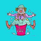 Clown Stuck in a Bucket by sharpie