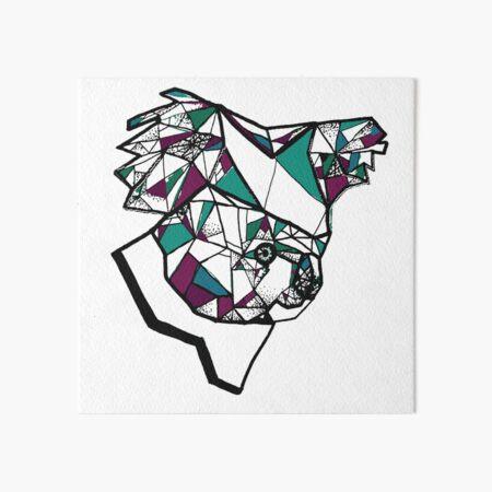 Koala Geometric Art Board Print