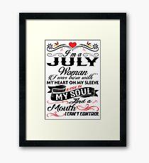 JULY WOMAN Framed Print