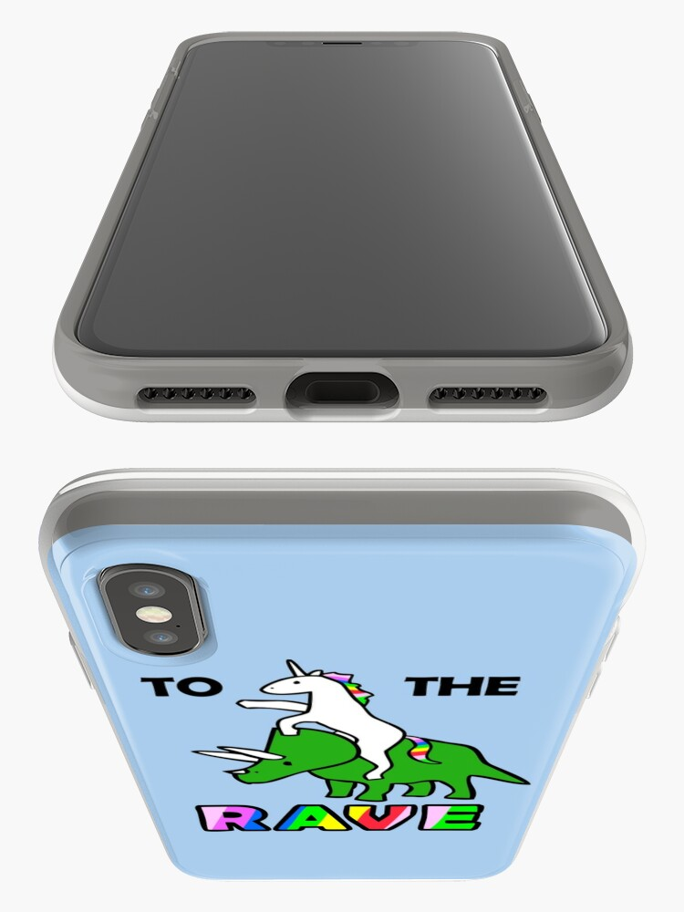 Alternate view of To The Rave! (Unicorn Riding Triceratops) iPhone Case & Cover