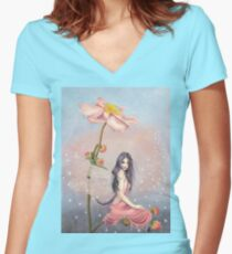 Damselfly Women's Fitted V-Neck T-Shirt