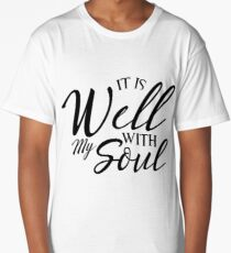Well With My Soul  Jesus Christian Faith Long T-Shirt