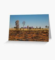 Desert Oaks and Kata Juta Greeting Card