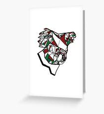 Christmas Geometric Koala Greeting Card