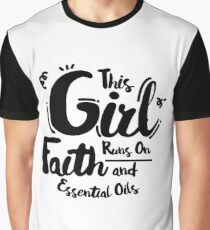 Faith and Essential Oils Christian  Jesus Peace Graphic T-Shirt